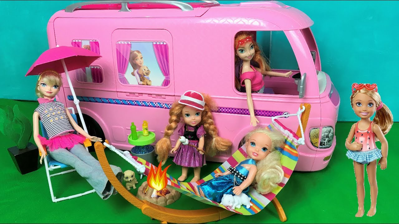 Anna And Elsa Toddlers Camping Pool Party Barbie Glam