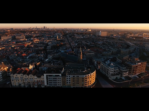 Drone in the Hague Den Haag Schieveningen Netherlands 2016 4K