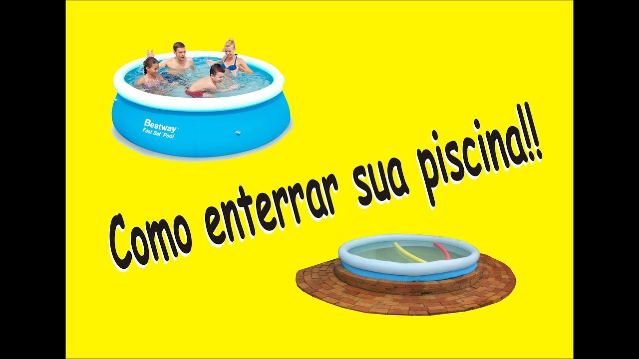 Piscina de pl stico como enterramos nossa piscina de 2 for Piscinas de plastico para ninos
