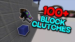Bedwars block clutch montage (100+ Clutches)