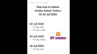 Gambar cover Deviden Saham Update 02-06 JULI 2020 Jadwal Terbaru