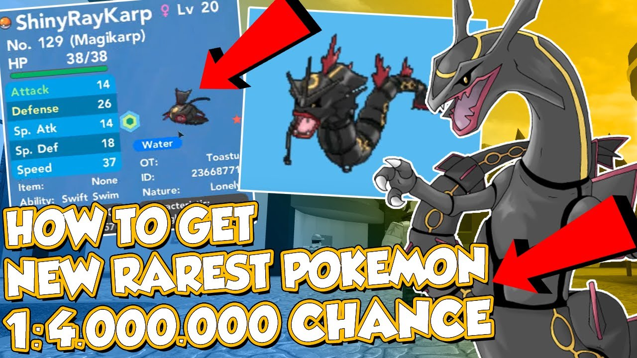 ⚠️1 4 000 000 Chance⚠️new Rarest Pokemon In Pokemon Brick Bronze Shiny Rayquaza Magikarp