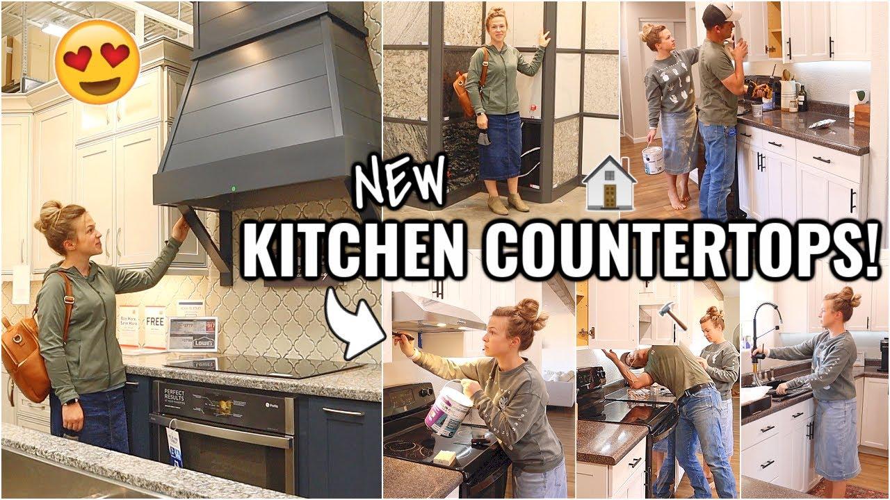 NEW KITCHEN COUNTERTOPS!!👏🏼 | RENOVATION HOUSE PROJECTS VLOG | ARIZONA FIXER UPPER KITCHEN MAKEOVER