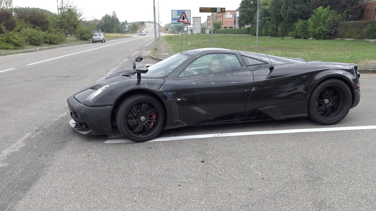 black on black pagani huayra - dark side style - youtube