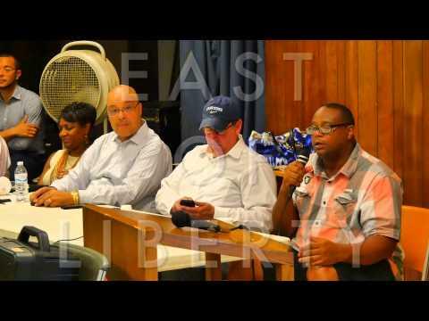 EAST OF LIBERTY: PENN PLAZA EVICTION MEETING FOOTAGE