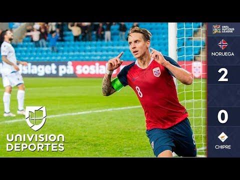 Noruega 2-0 Chipre - RESUMEN Y GOLES – UEFA Nations League
