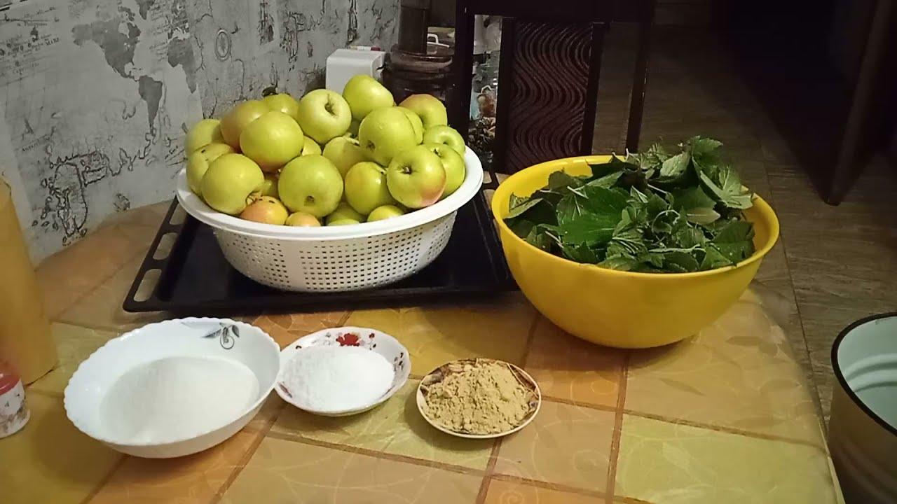 Моченые яблоки с горчицей на зиму.