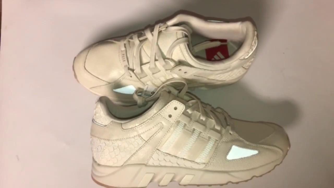 "sneakers for cheap 62756 132b2 KING PUSH BEST ADIDAS! adidas EQT Guidance  93 Pusha T ""King Push""  White White (Review)  Sgk23Tv"
