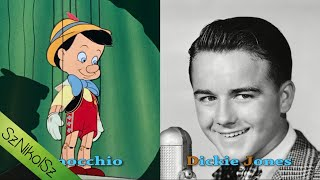 Character and Voice Actors - 1940 Pinocchio