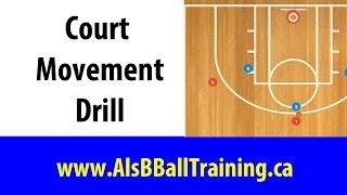 Court Movement Basketball Drill