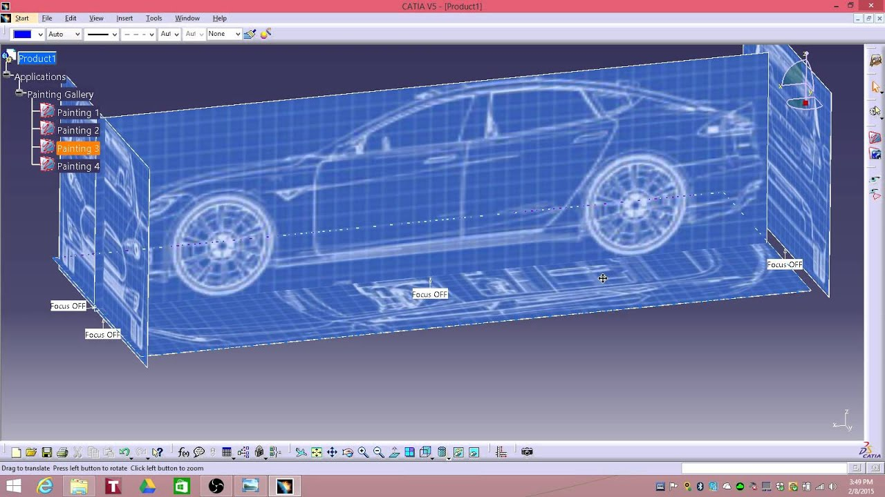 Nice CATIA V5 Tesla Model S Surface Modeling Totorial 1