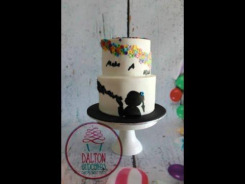 Silhouette Make A Wish Cake