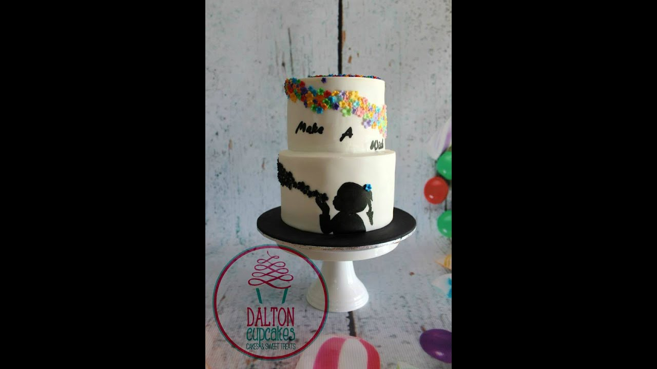 Silhouette Make A Wish Cake Youtube