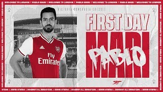 Pablo Mari's first day at Arsenal training centre | Behind the scenes