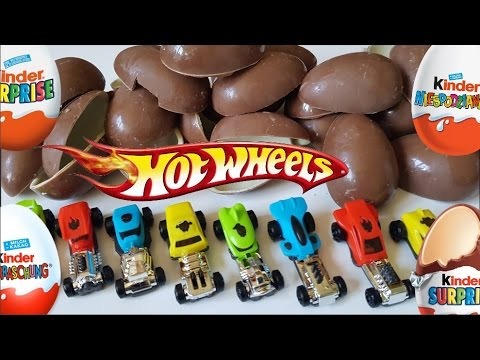 24x Kinder Surprise Eggs HOT WHEELS with Christmas Music - Unboxing Chocolate Eggs Adventskalender
