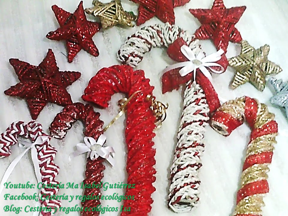Pastoras o bastones navide os christmas decorations youtube - Como se hacen adornos navidenos ...