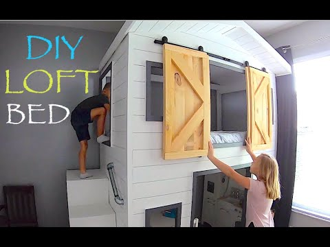 Bunk bed Playhouse - Loft Bed ideas for small rooms DIY Build it Yourself