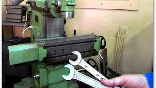 Уроки фрезерования, устанавливаем горизонтальный стол на фрезерный станок