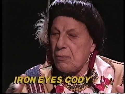 Iron Eyes Cody--Rare TV Interview