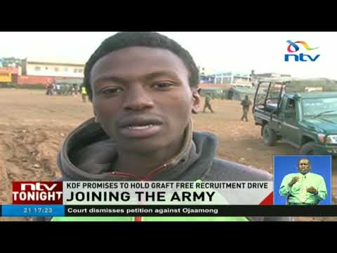 KDF warns of cons as recruitment kicks off
