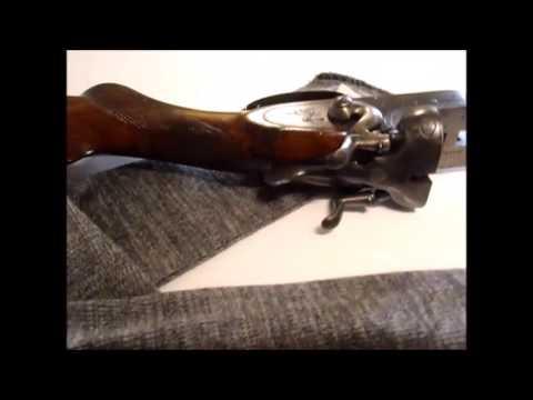 Antique English Clabrough & Johnstone Black Powder Hammer Gun