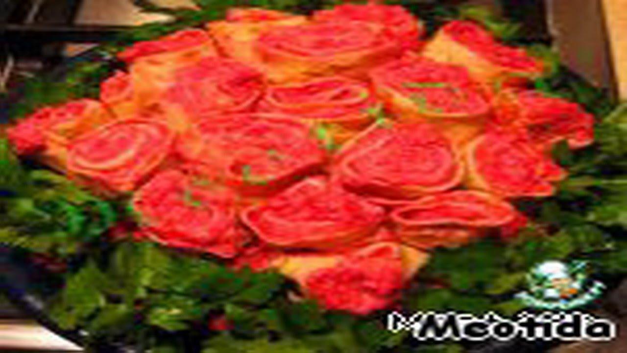 Салат букет роз с селедкой интернет магазин
