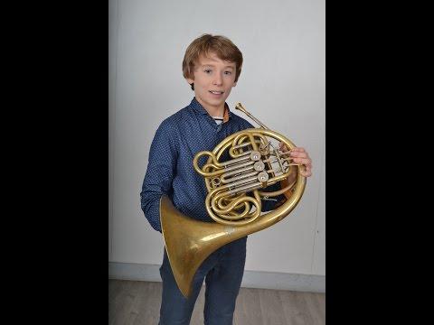 Florian LEBLEIS, 11 years!! French Horn
