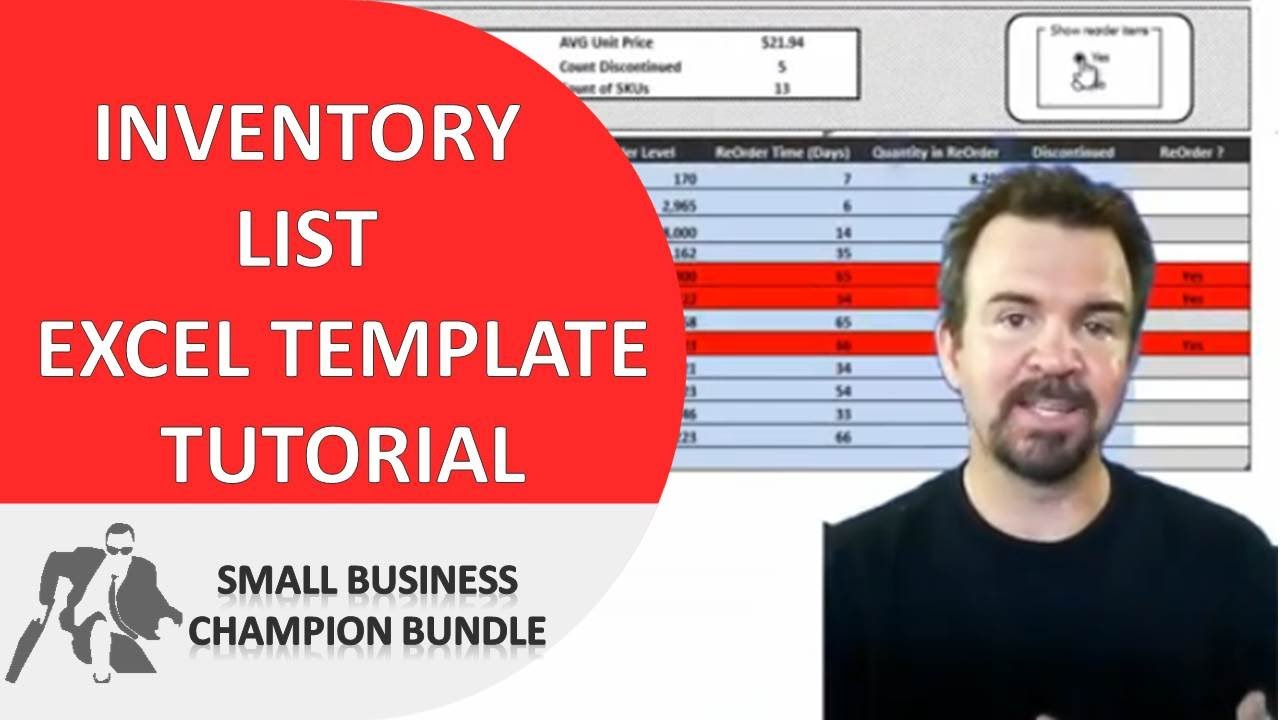 inventory spreadsheet template excel product tracking youtube