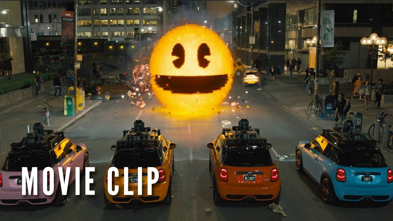 Pixels Official Pac Man Clip Happy 35th Birthday Youtube