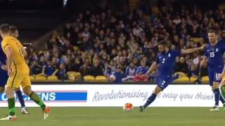 Greece vs Australia Maniatis strikes an amazing goal behind the center
