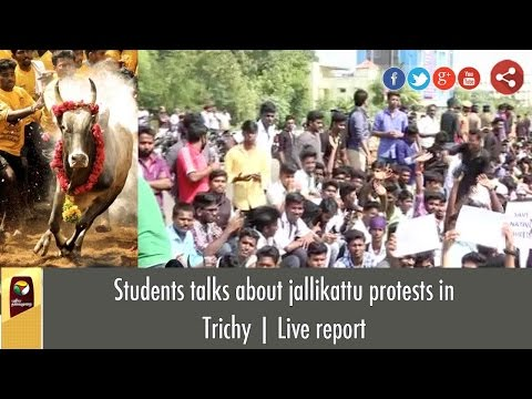 Students talks about jallikattu protests in Trichy   Live report