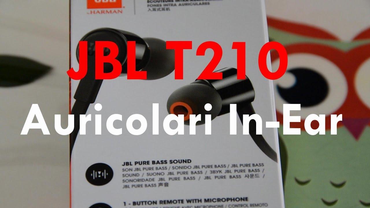 2e59e3c8bf54d9 JBL T210 Auricolari In-Ear , Nero - YouTube
