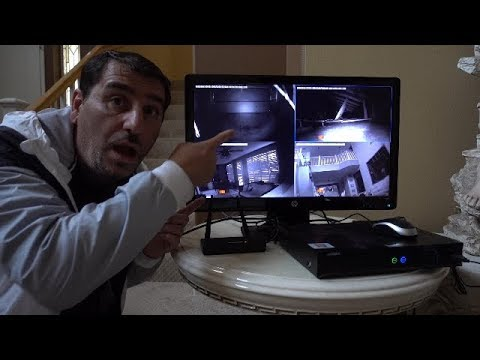 WE PUT CAMERAS INSIDE OUR HAUNTED HOUSE!! *CREEPY*