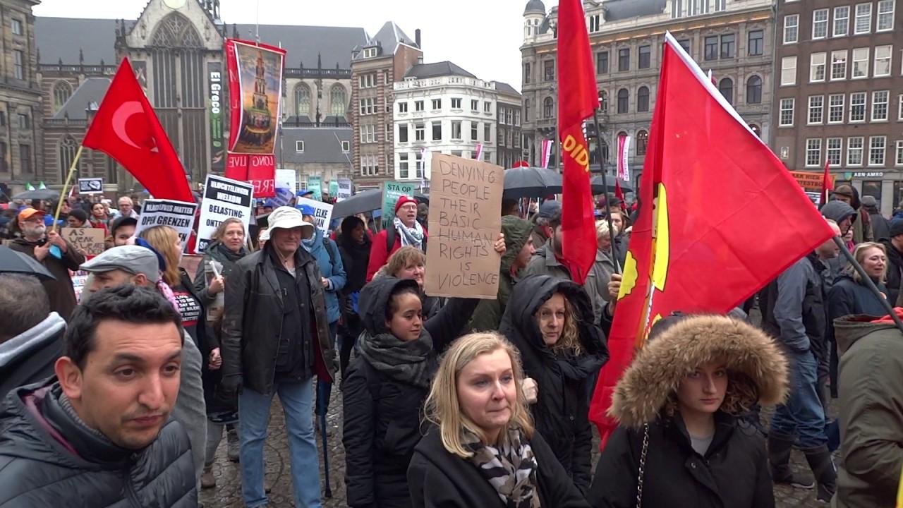 Demonstratie sta op tegen racisme en discriminatie for Demonstratie amsterdam