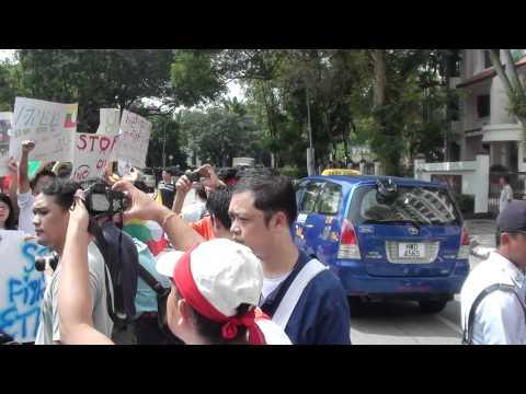 Demonstration, Kuala Lumpur Myanmar Embassy