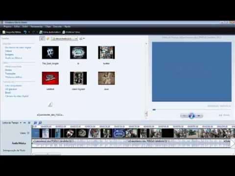 Como criar montagem com video e foto