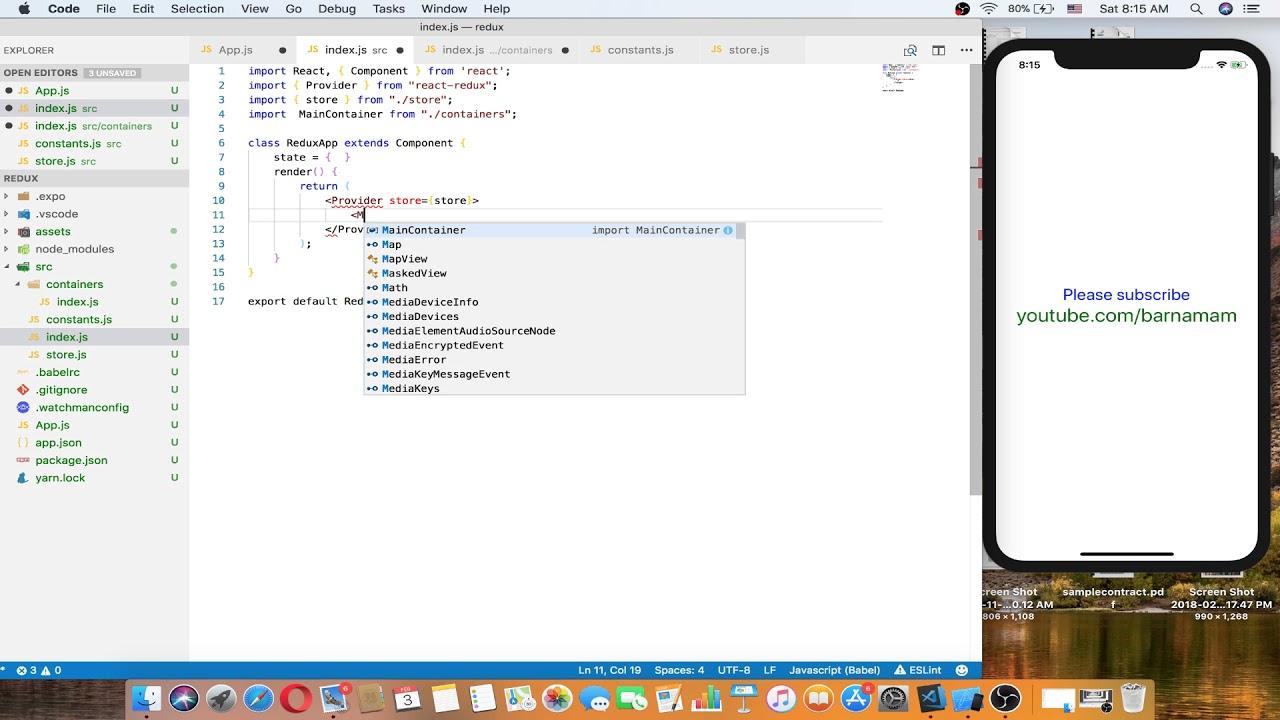 React Native tutorials part 011 redux and axios #1
