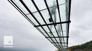 Take a 900-Foot Walk Over a Gorge Via a Glass-Bottomed Bridge | Mashable News
