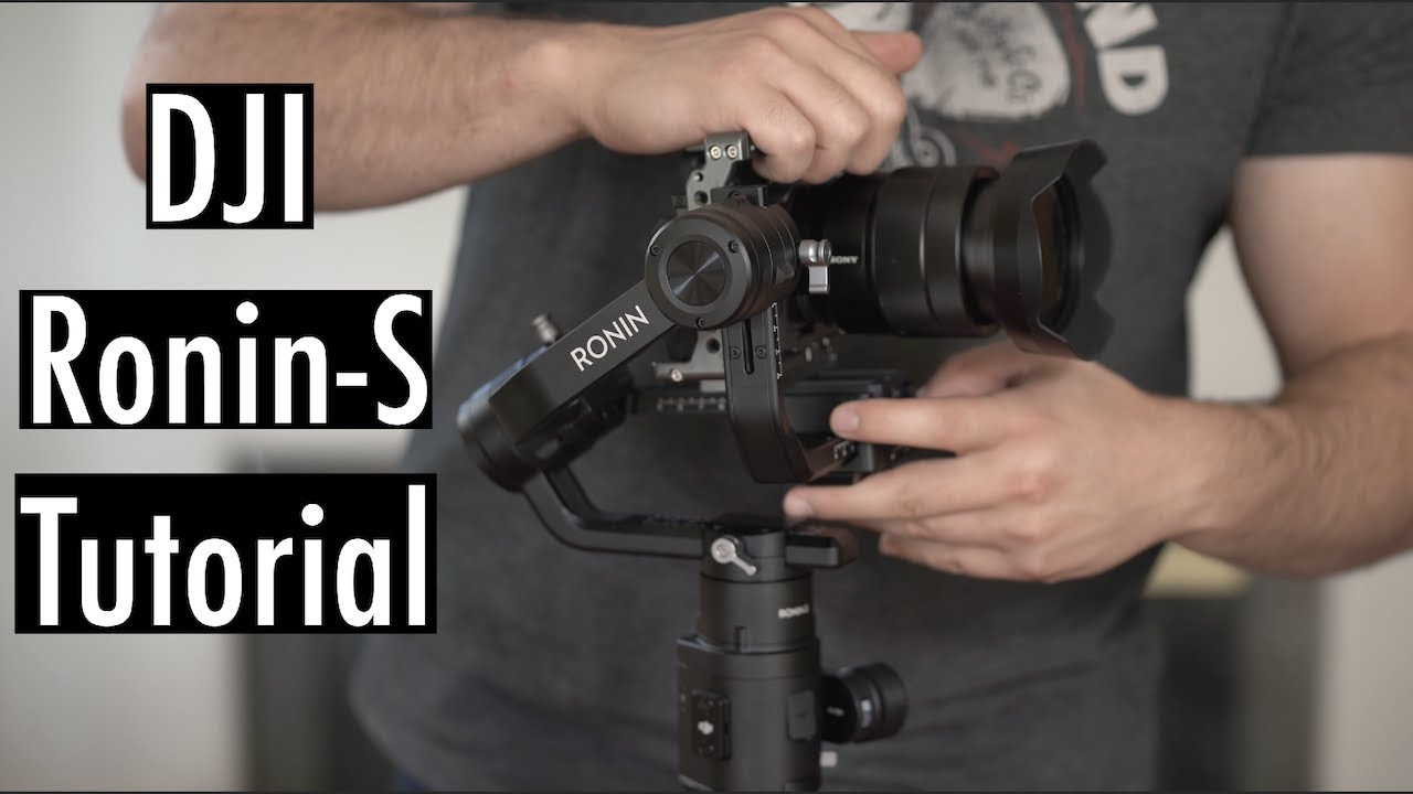 BEST Way to Setup Your DJI Ronin S - How to Balance Tutorial for Sony Alpha