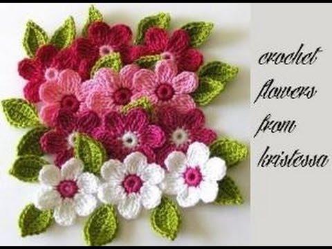 Floricele Crosetate Crizantema Youtube