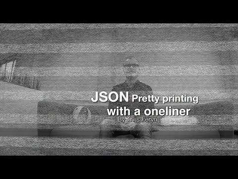 JSON pretty printing with a single Python command