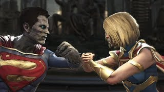 Injustice 2 : Bizarro Vs Supergirl & Power girl - All Intro/Outros, Clash Dialogues, Super Moves