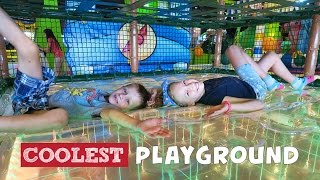 Fun Playground with BALLS, Indoor Play Place for kids with slides, trampoline and lots of balls.