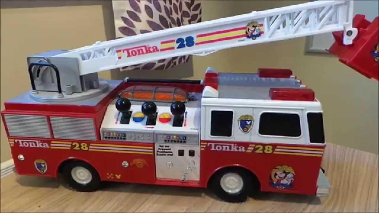 tonka disney mickey mouse fire truck 28 motorized