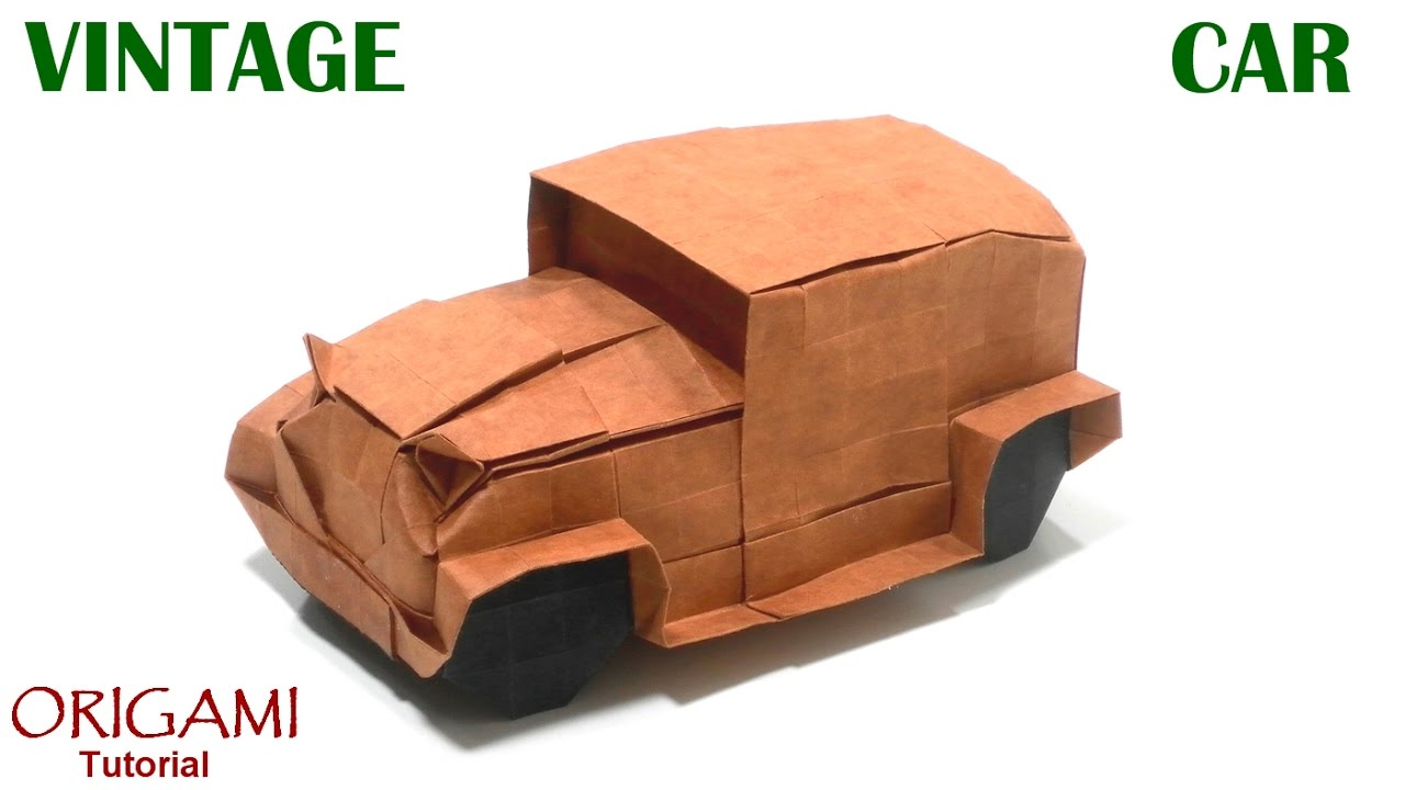 Origami Vintage Car Tutorial Akira Kawamura Auto