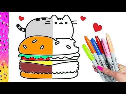 Como Dibujar Y Colorear A Pusheen Dibujos Para Niños Youtube