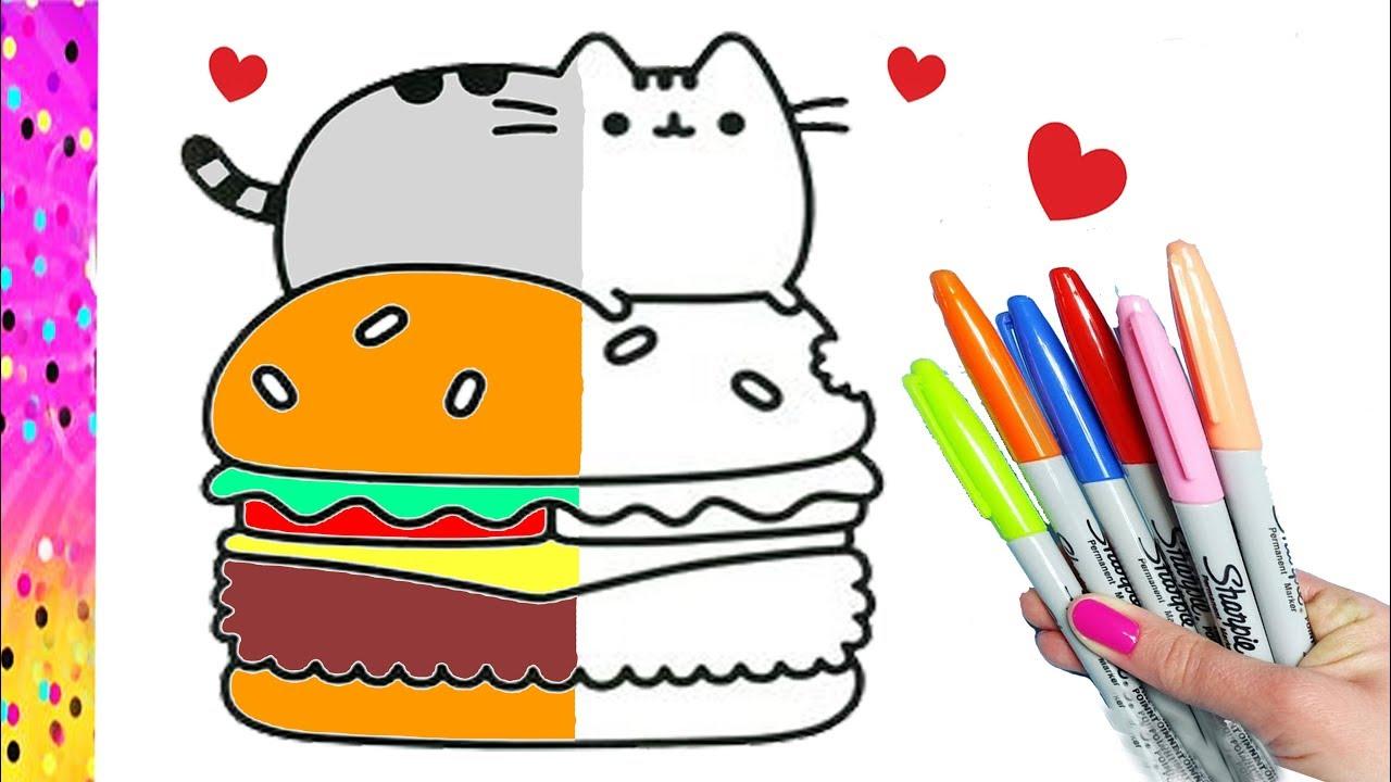 Como Dibujar Y Colorear A Pusheen Dibujos Para Niños