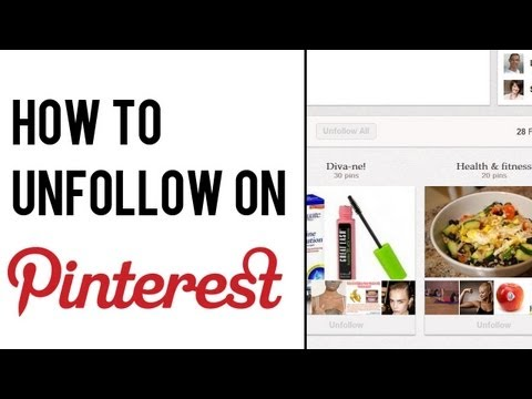 How to Unfollow on Pinterest | Pinterest Board: How to Unfollow