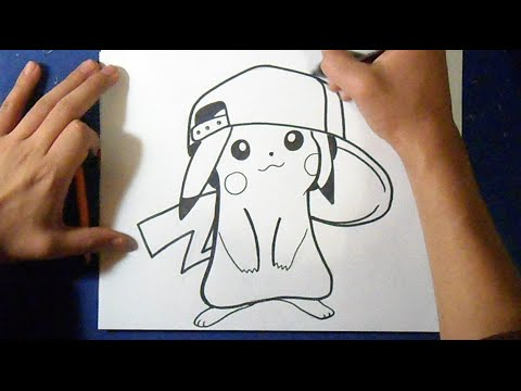 Cómo dibujar a Pikachu con Gorra | how to draw Pikachu - YouTube
