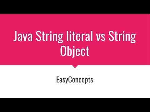 String Literal vs String Object | Difference between String literal and String object (Java)